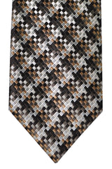 Tom Ford Tie Black Silver Taupe