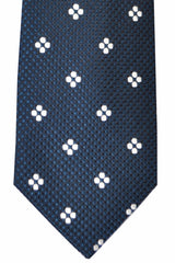 Tom Ford Tie Green Silver Geometric