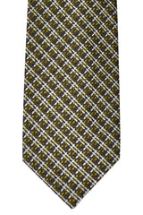 Tom Ford Tie Brown Olive Silver