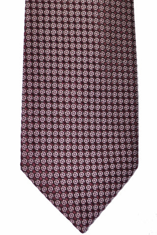 Tom Ford Tie Purple Silver Geometric SALE