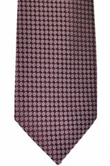 Tom Ford Tie Purple Silver Geometric