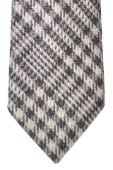 Tom Ford Tie Mocha Cream Gray Geometric