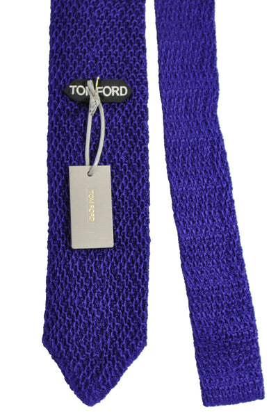 Tom Ford Knitted Silk Tie Purple