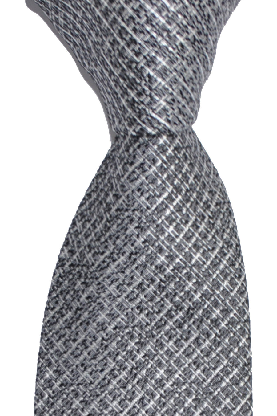 Tom Ford Tie Charcoal Gray Silver