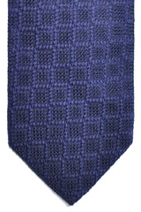 Tom Ford Tie Purple Black Geometric Silk Necktie