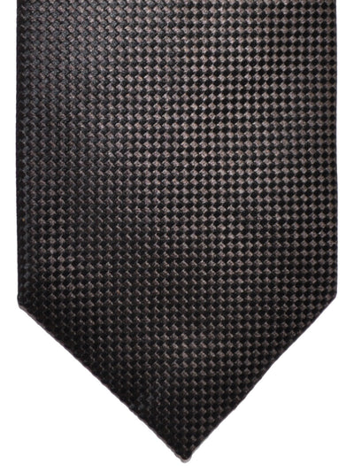 Tom Ford Tie Black Gray Geometric Silk Necktie
