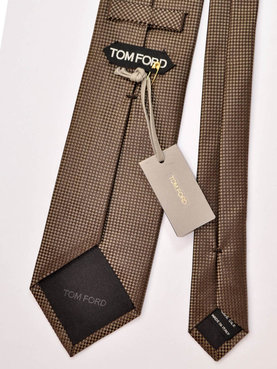Tom Ford Silk Tie Taupe Brown Design