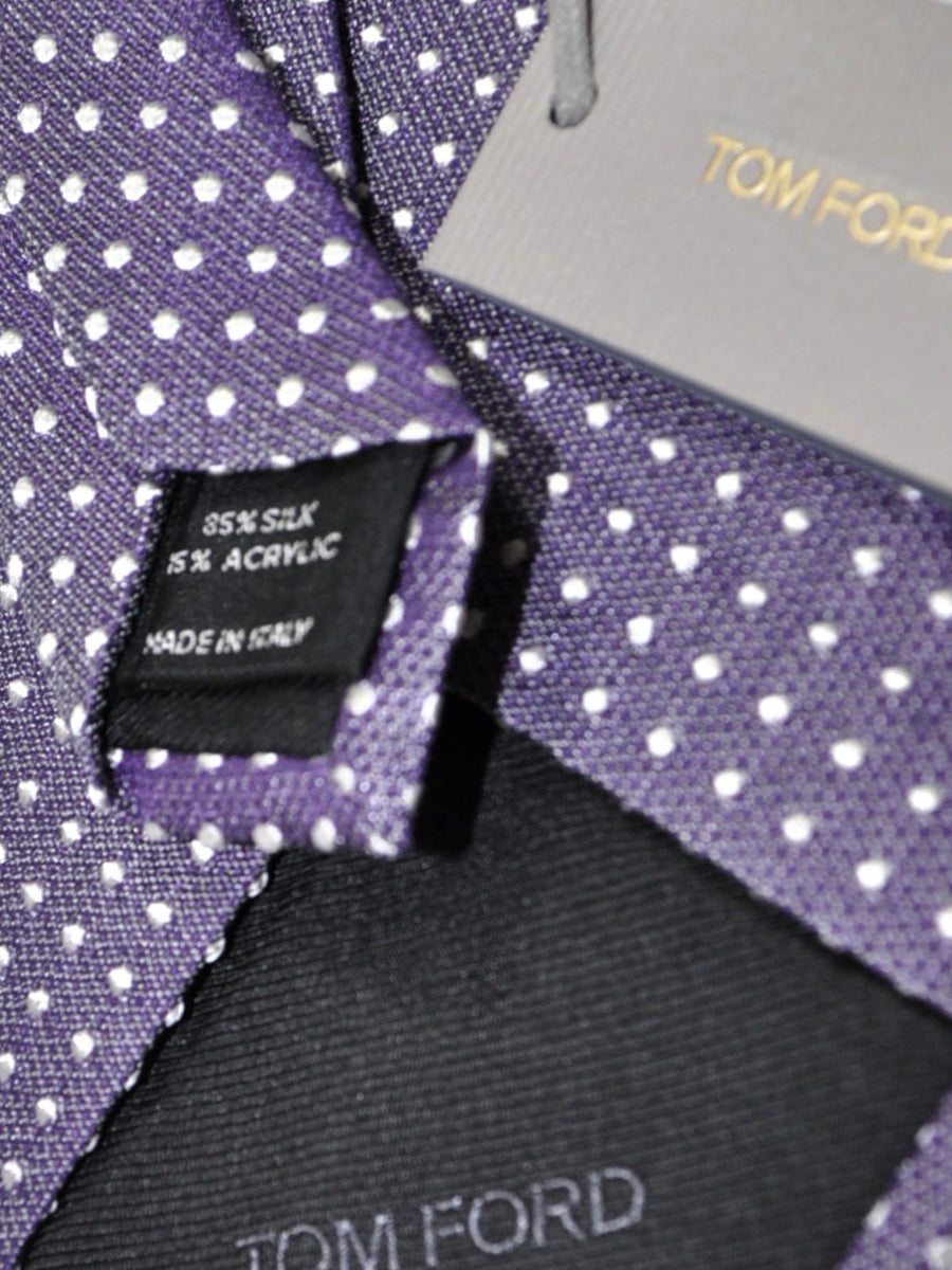 Tom Ford Tie Purple Silver Dots