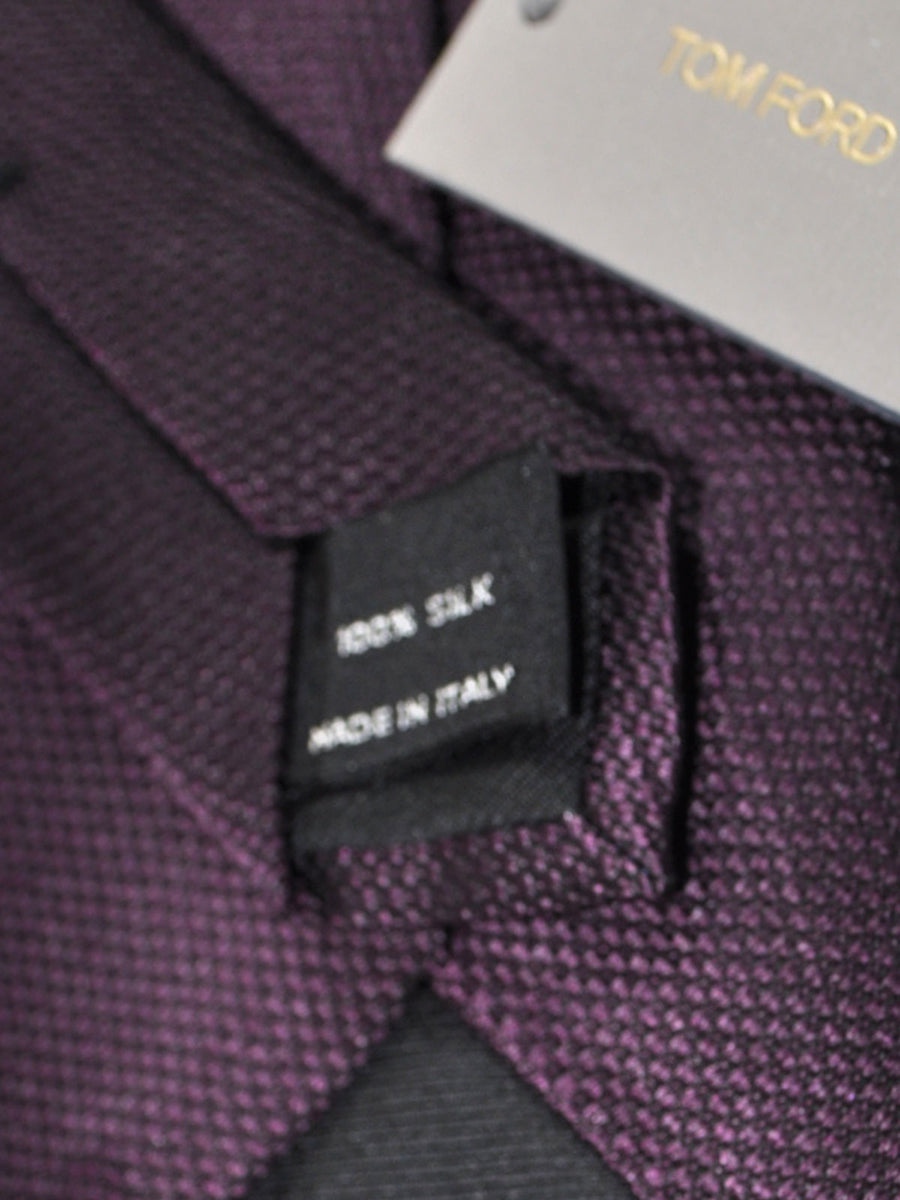 Tom Ford Tie Purple Black Geometric