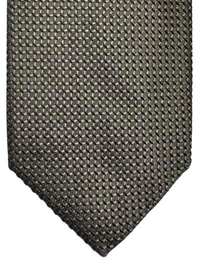 Tom Ford Silk Tie Taupe Gray Geometric Design