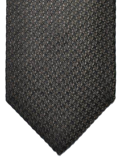 Tom Ford Silk Tie Black Brown Geometric Design