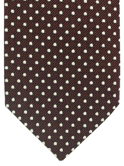 Tom Ford Tie Brown Silver Squares Design