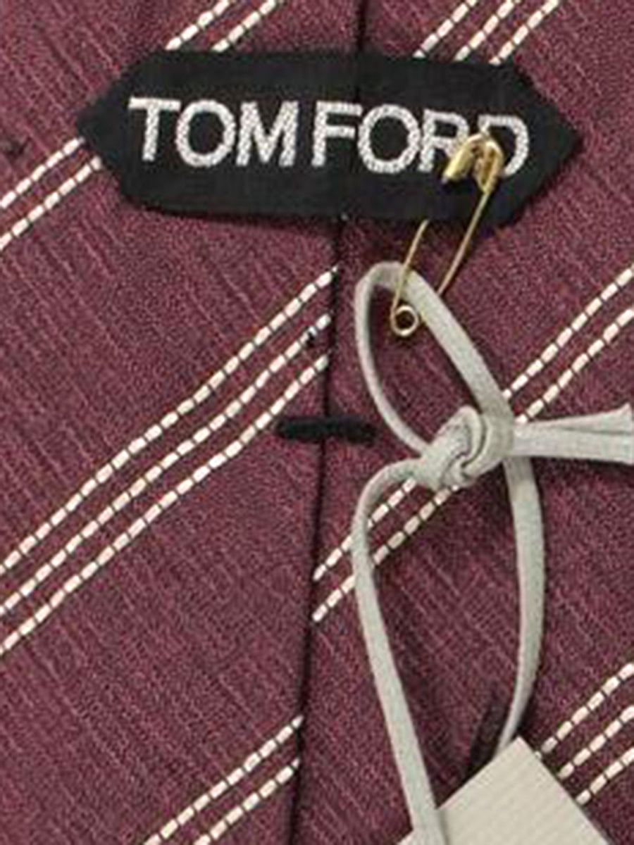 Tom Ford Tie Dust Pink Black Silver Stripes