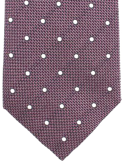 Tom Ford Tie Dust Pink Silver Dots Silk