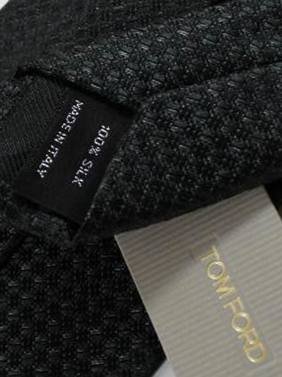 Tom Ford Tie Dark Grey Black Silk