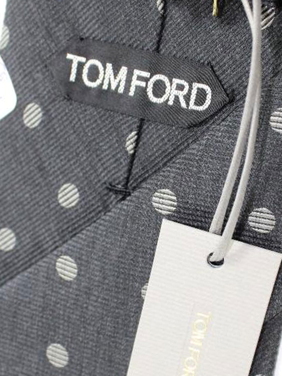 Tom Ford Tie Grey Dots - Wide Necktie