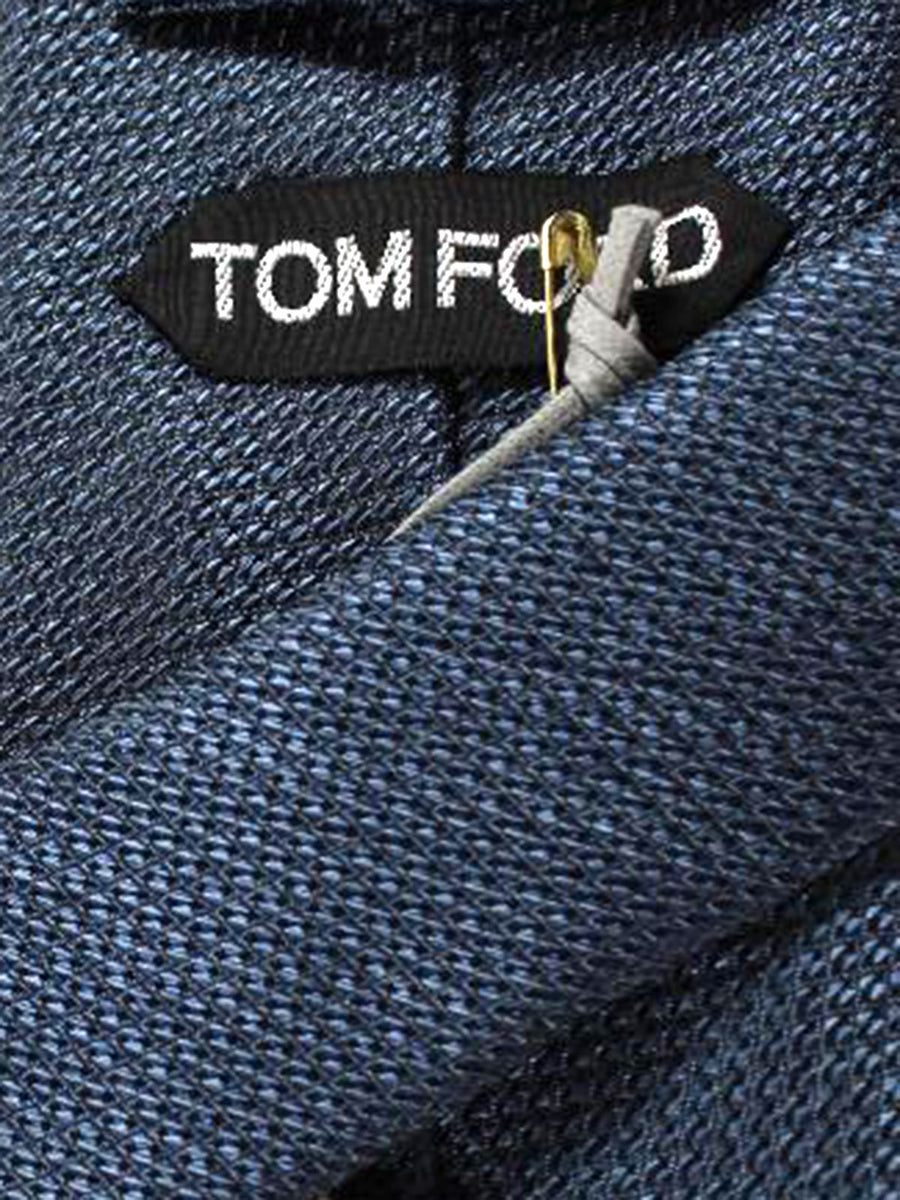 Tom Ford Tie Metallic Grey Silk