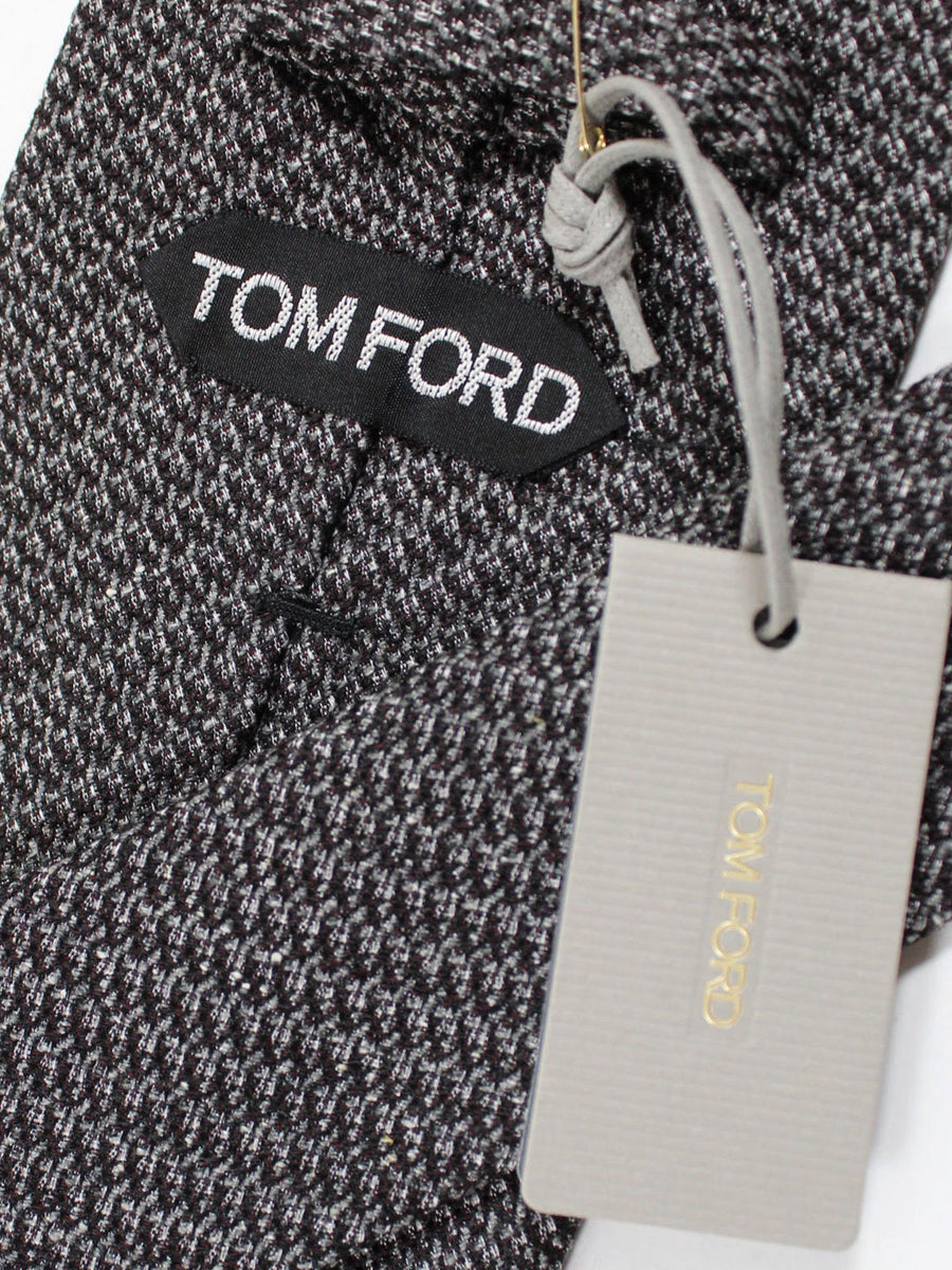 Tom Ford Tie Charcoal Black - Wide Necktie