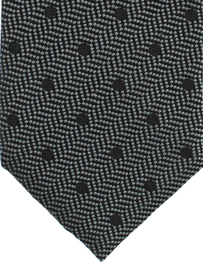 Tom Ford Tie Gray Black Polka Dots - Wide Necktie