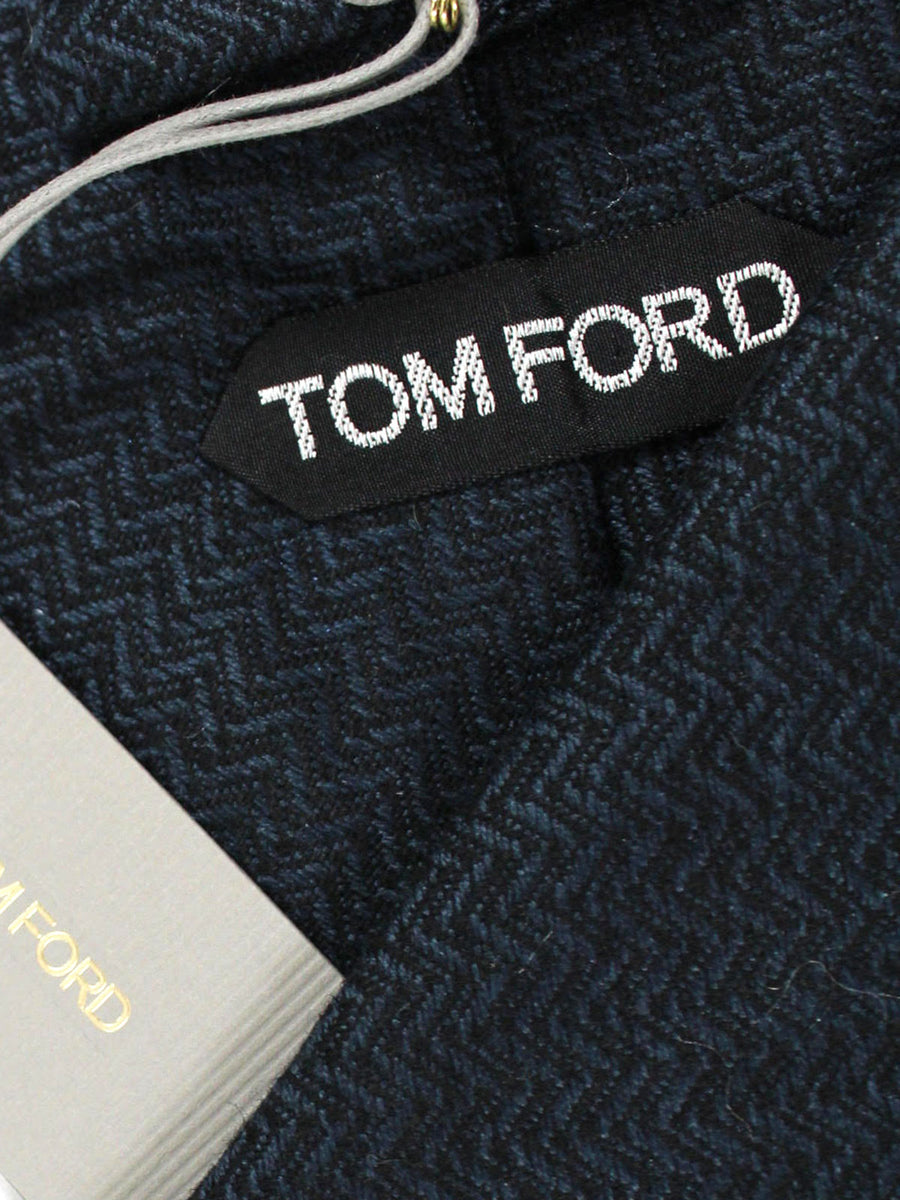 Tom Ford Tie Midnight Blue Black - Wide Necktie