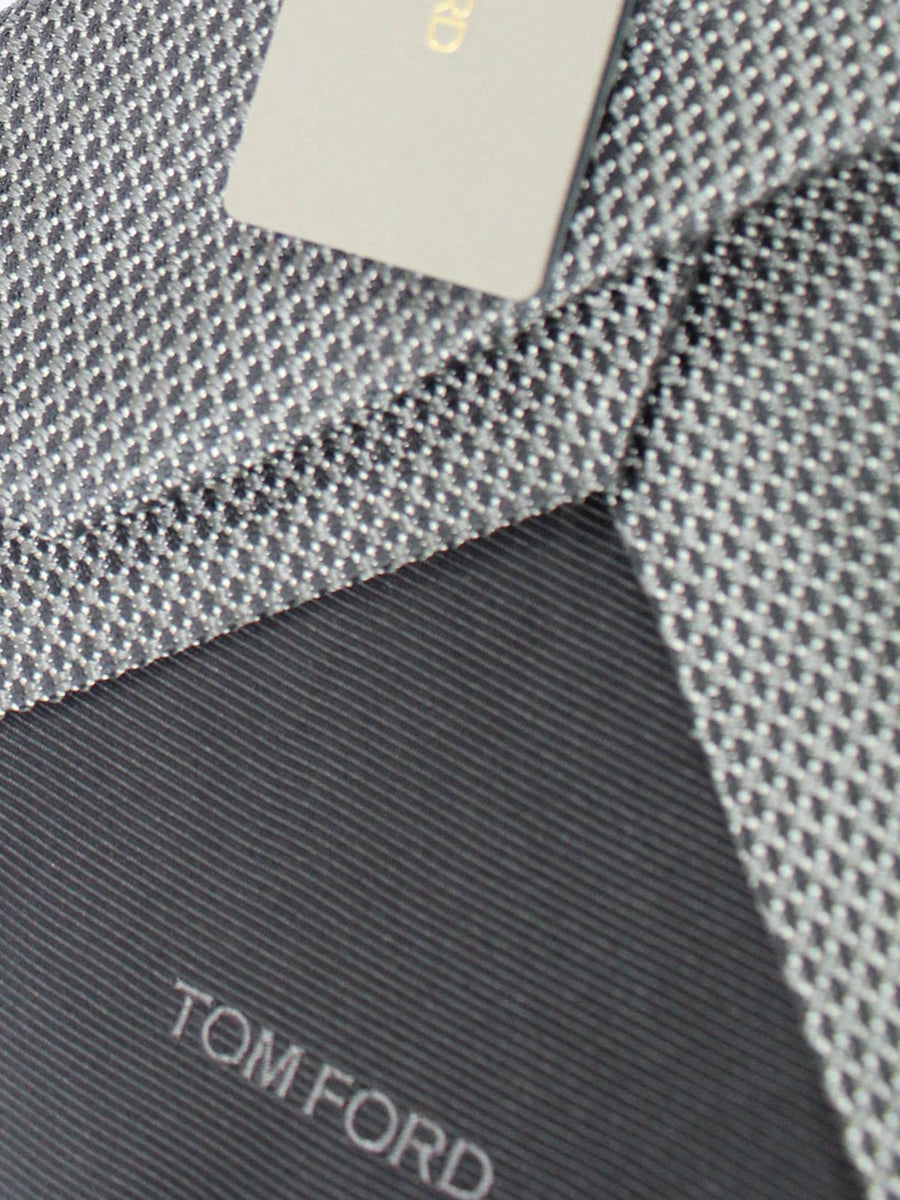 Tom Ford Tie Charcoal Silver - Wide Necktie