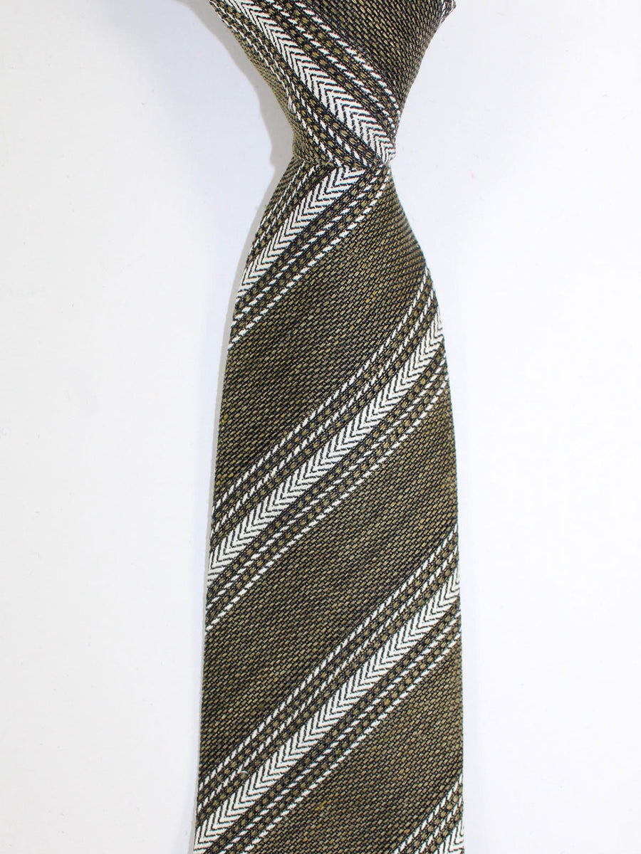 Tom Ford Silk Tie Forest Green Silver Stripes
