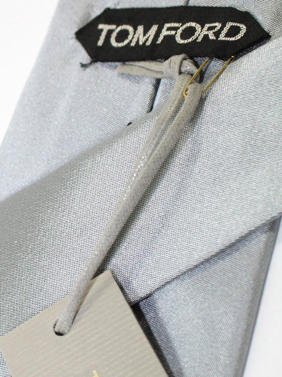 Tom Ford Silk Tie Gray Solid