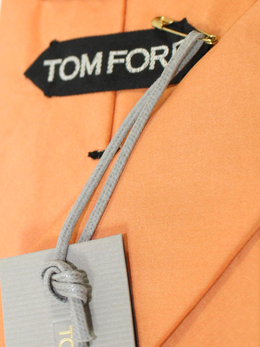 Tom Ford Silk Tie Orange Solid