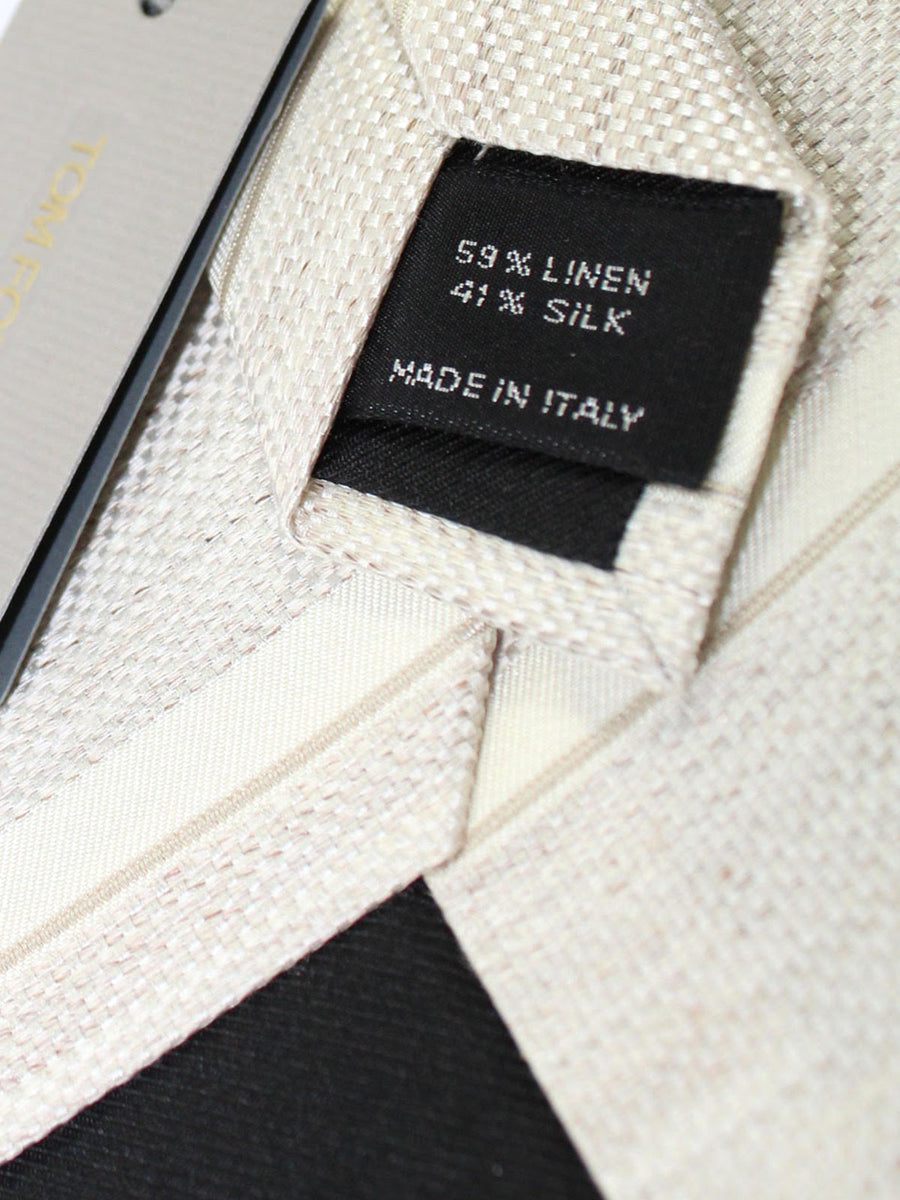 Tom Ford Silk Tie Cream Stripes