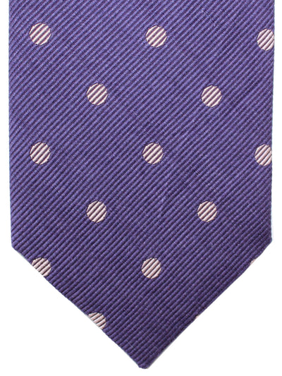 Tom Ford Linen Silk Tie Purple Polka Dots
