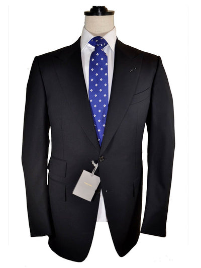 Tom Ford Suit Dark Gray Midnight Blue Men Suit