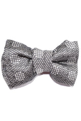 Tom Ford Bow Tie Silver Gray Polka Dots