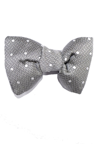 Tom Ford Bow Tie Gray Silver Dots