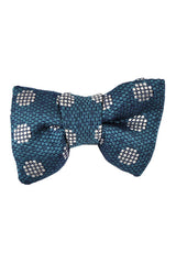 Tom Ford Bow Tie Turquoise Silver Polka Dots
