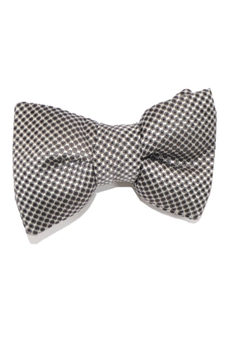 Tom Ford Bow Tie Gray Silver Black Dots
