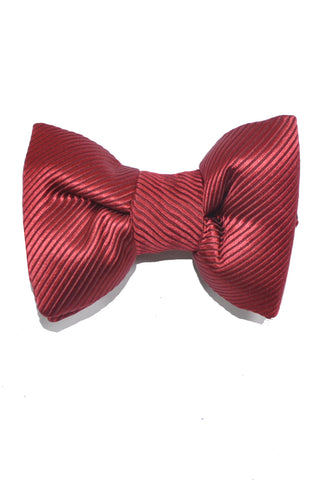 Tom Ford Bow Tie Burgundy Solid Stripes