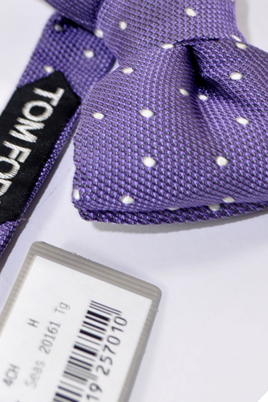 Tom Ford Silk Bow Tie Purple Dots