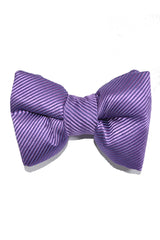 Tom Ford Bow Tie Lilac Solid Stripes