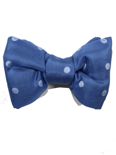 Tom Ford Bow Tie Blue Silver Polka Dots