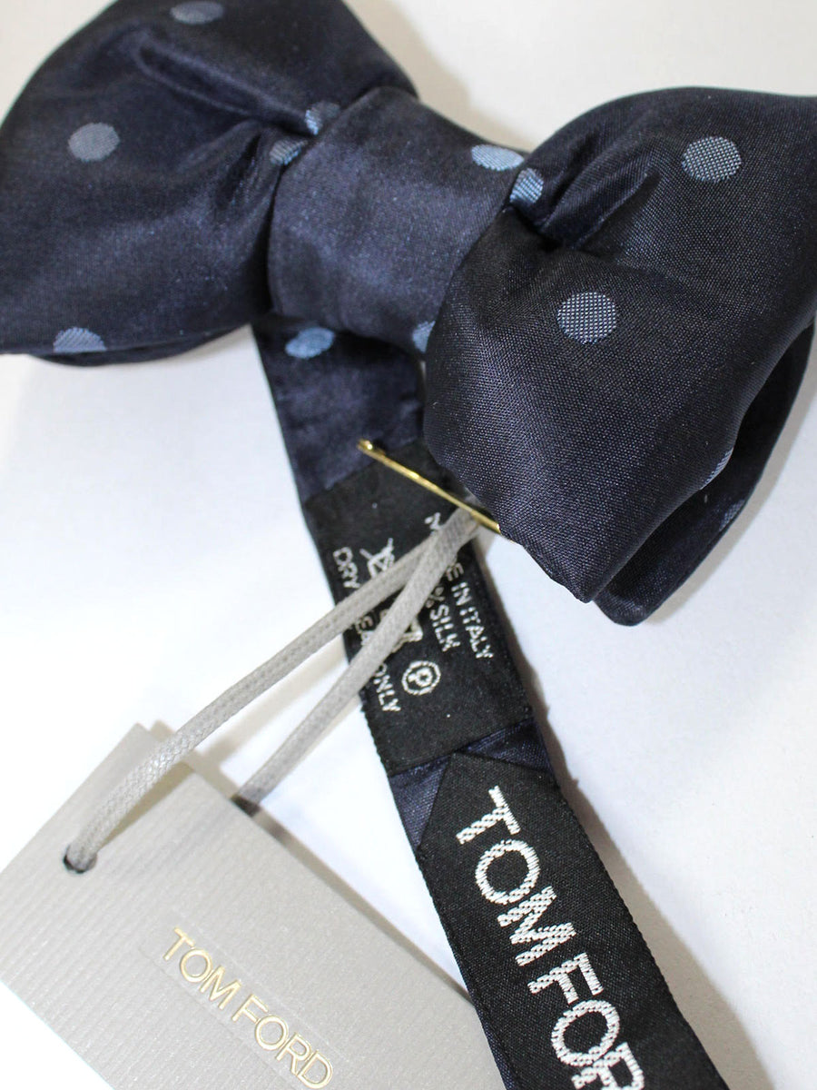 Tom Ford Bow Tie Dark Blue Polka Dots