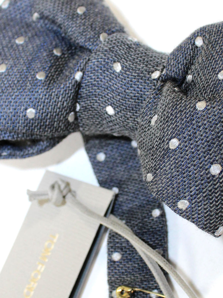 Tom Ford Bow Tie Charcoal Gray Dots