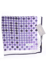 Tom Ford Pocket Square White Purple Lilac Dots