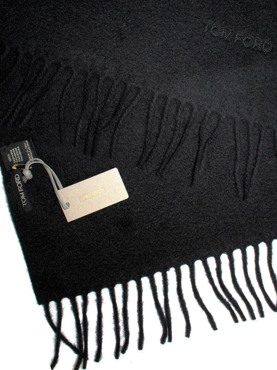 Tom Ford Cashmere Scarf Solid Black