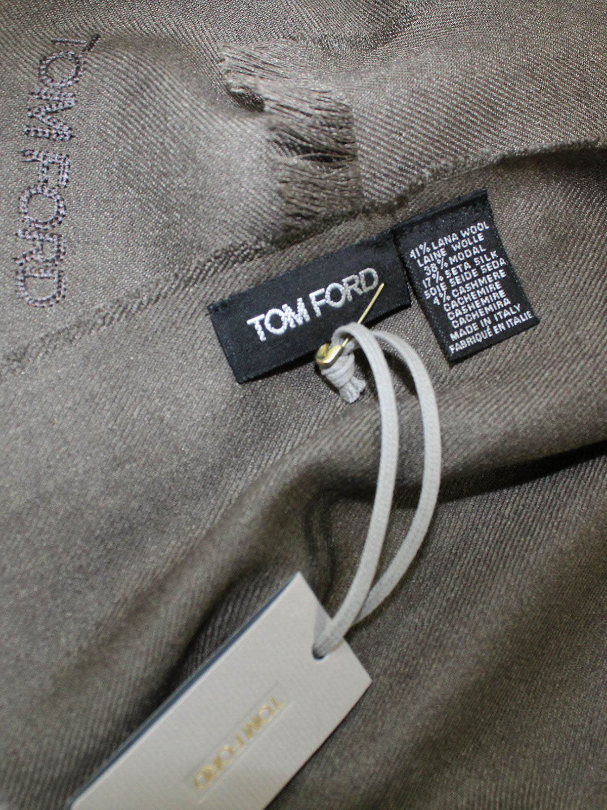 Tom Ford Cashmere Scarf Forest Green Solid
