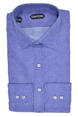 Tom Ford Dress Shirt Purple Dots