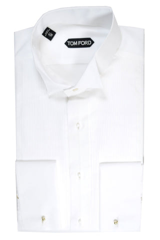 Tom Ford Tuxedo Shirt White Evening Shirt 43 - 17