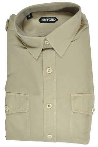 Tom Ford Sport Shirt Khaki 42 - 16 1/2 SALE
