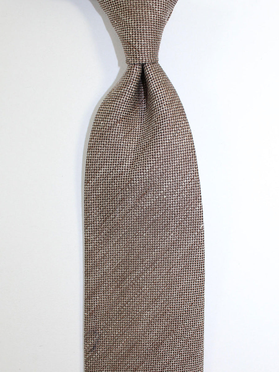 Tom Ford Linen Silk Tie Brown SALE