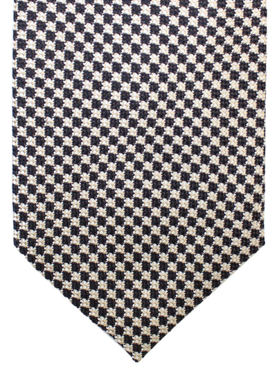 Tom Ford Silk Tie Black Silver Geometric
