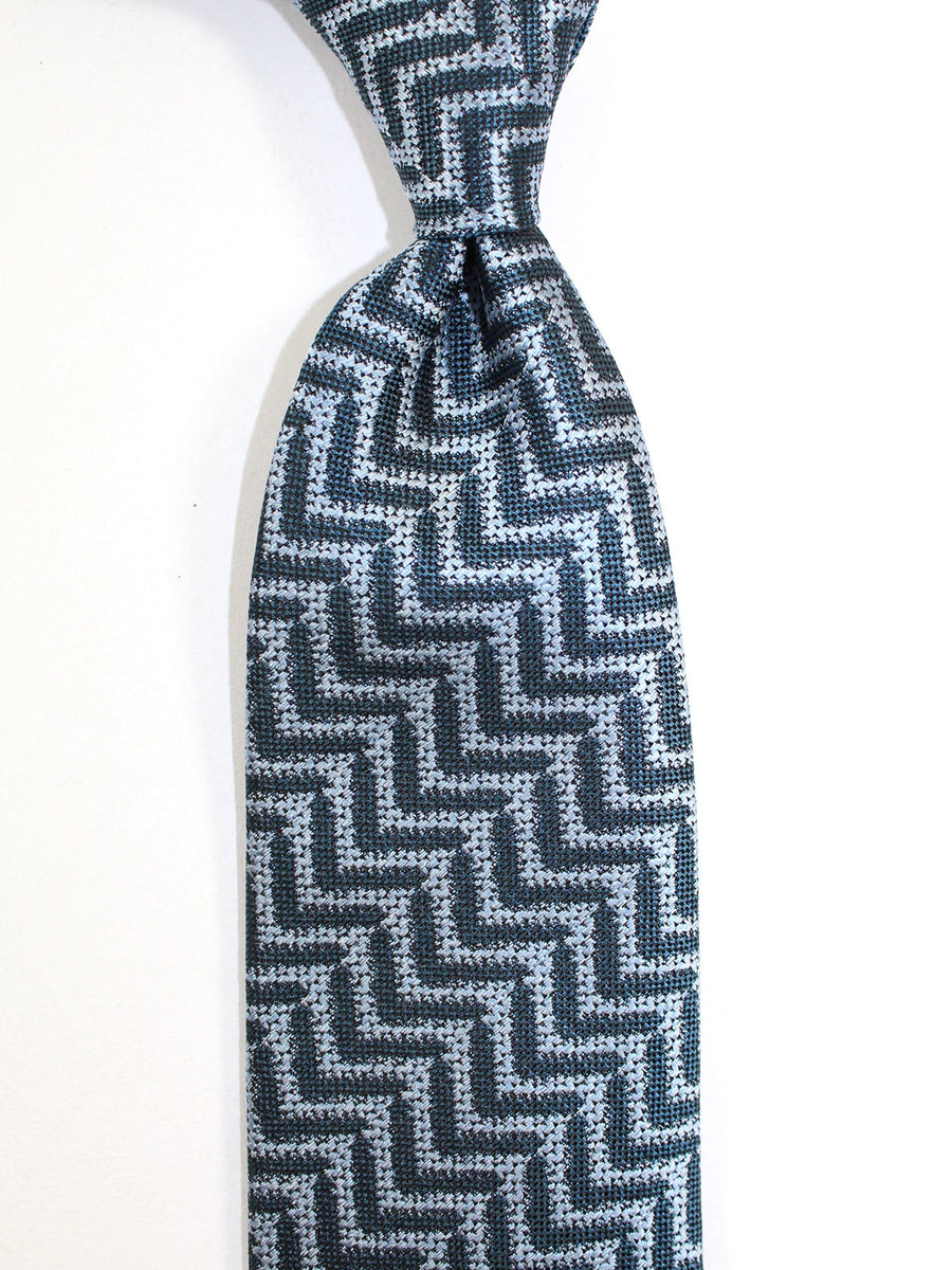 Tom Ford Silk Tie Dark Blue Gray Herringbone